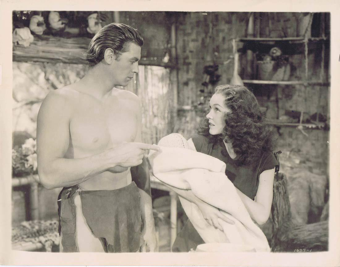TARZAN FINDS A SON 1939 Movie Still 36 Vintage Johnny Weissmuller Jane and baby
