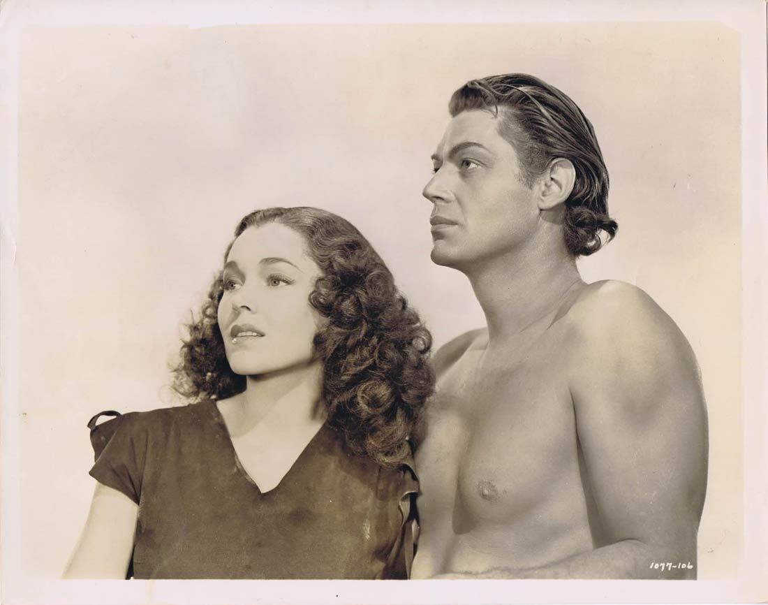 TARZAN FINDS A SON 1939 Movie Still 58 Johnny Weissmuller trains Elephant