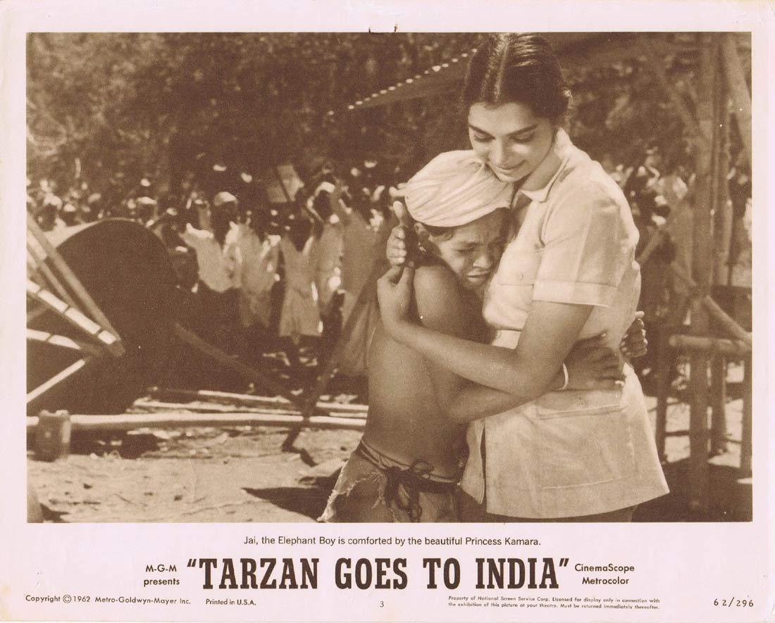 TARZAN GOES TO INDIA Lobby Card 3 Jock Mahoney Jai
