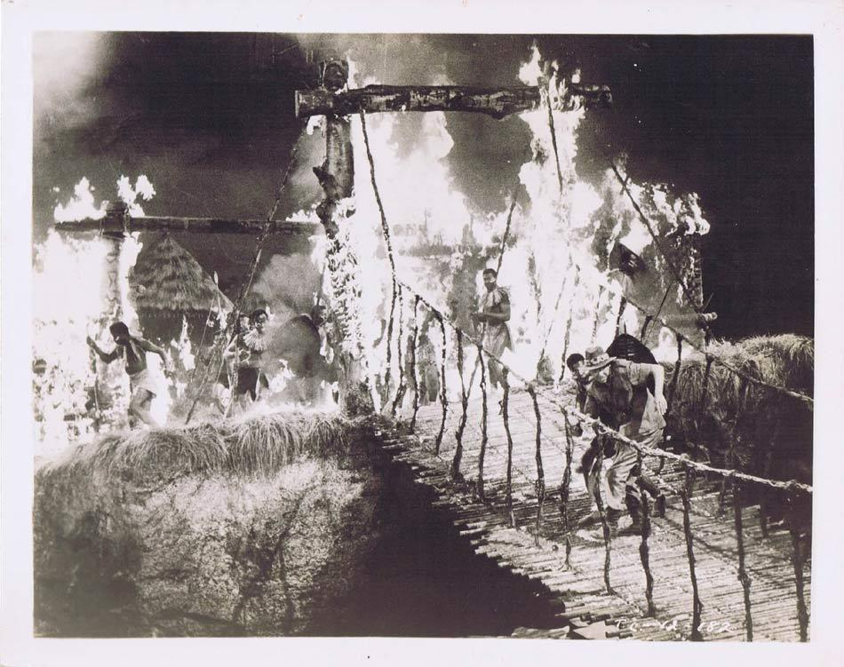 TARZAN AND THE LOST SAFARI Vintage Movie Still 23 Across the bridge