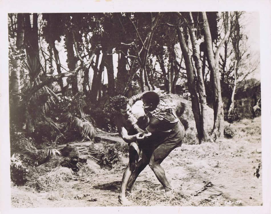 TARZAN AND THE LOST SAFARI Vintage Movie Still 33 Gordon Scott wrestles tribesman