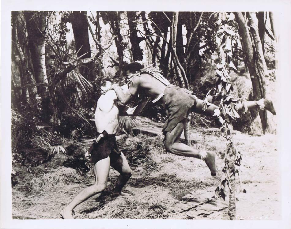 TARZAN AND THE LOST SAFARI Vintage Movie Still 34 Oparian attacks Gordon Scott