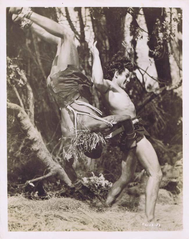 TARZAN AND THE LOST SAFARI Vintage Movie Still 35 Gordon Scott flings Tribesman