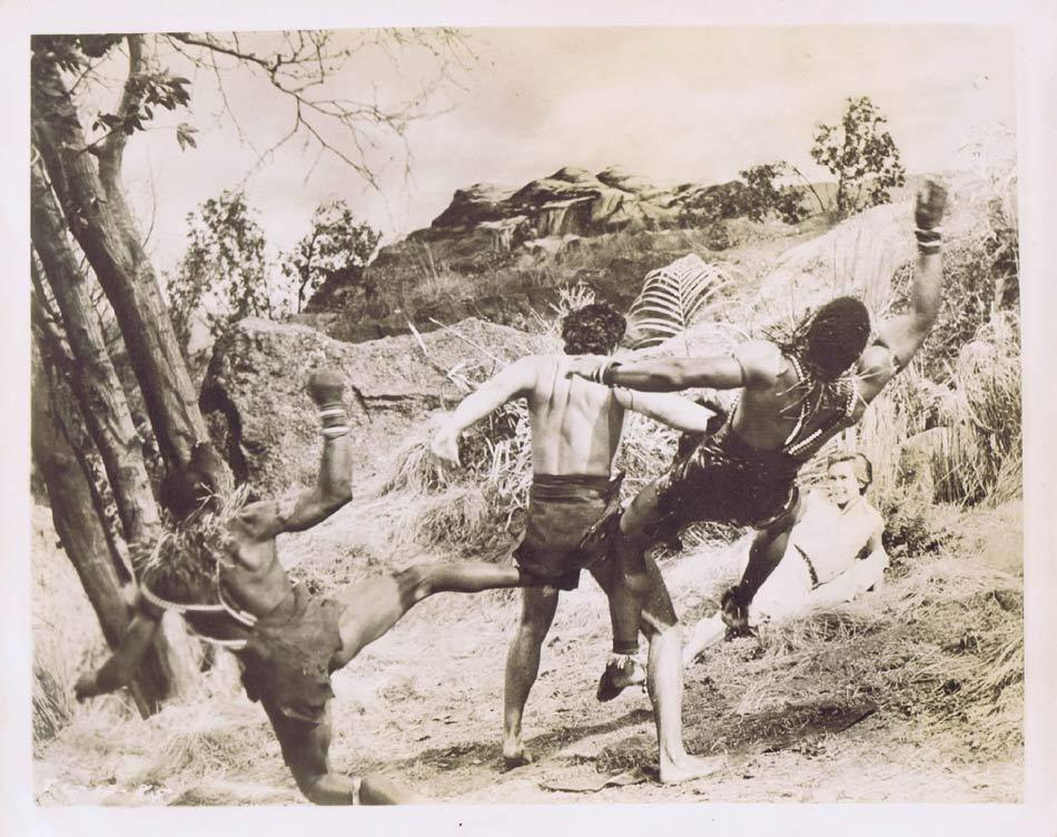TARZAN AND THE LOST SAFARI Vintage Movie Still 37 Gordon Scott deals with Oparians
