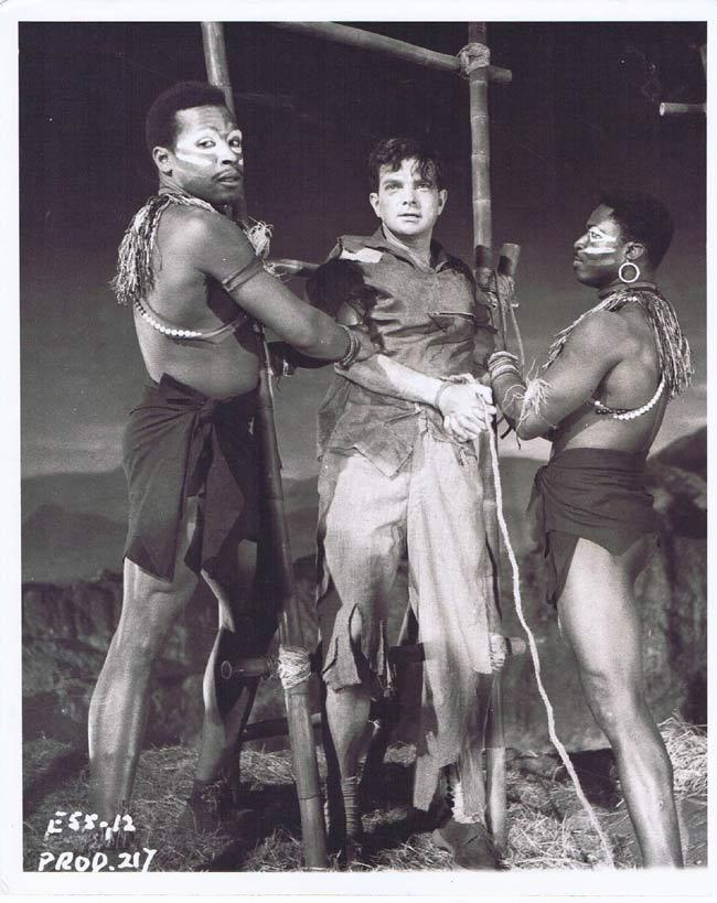 TARZAN AND THE LOST SAFARI Vintage Movie Still 58 Natives restrain Peter Arne