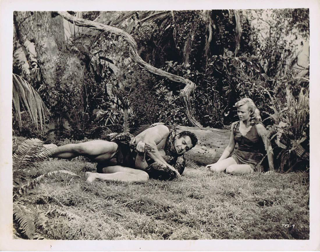 TARZAN'S FIGHT FOR LIFE BW Movie Still 10 Gordon Scott wrestles snake