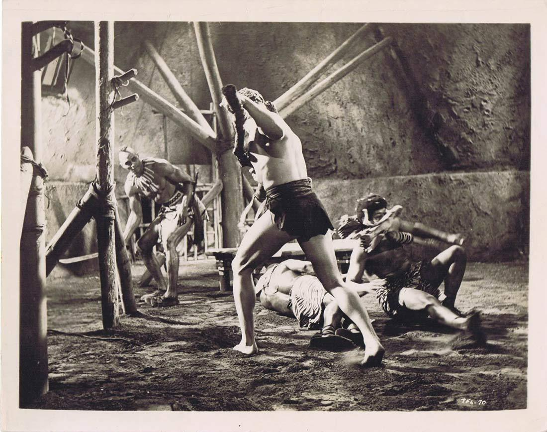 TARZAN'S FIGHT FOR LIFE BW Movie Still 20 Native attack Gordon Scott Eve Brent
