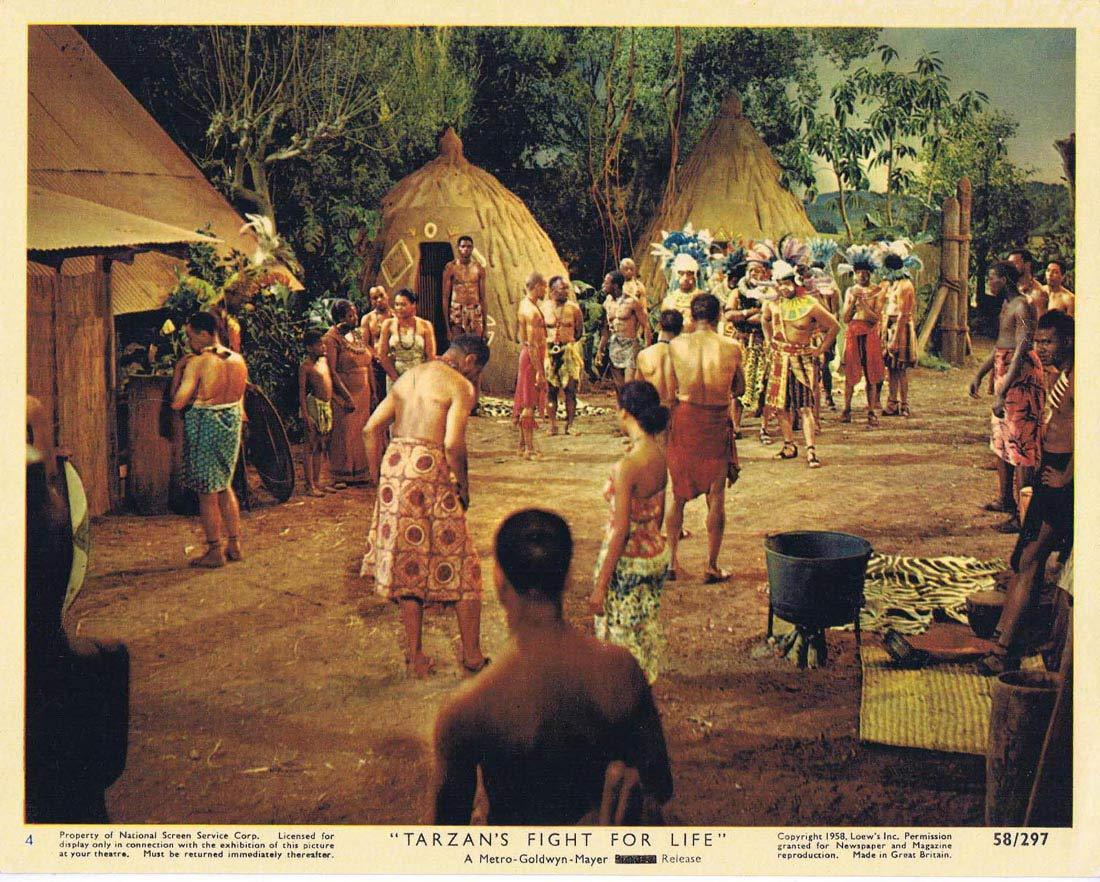 TARZAN'S FIGHT FOR LIFE Color Movie Still 4 Gordon Scott Eve Brent