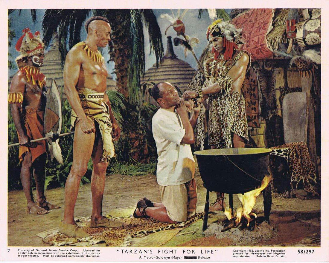 TARZAN'S FIGHT FOR LIFE Color Movie Still 7 Gordon Scott Eve Brent