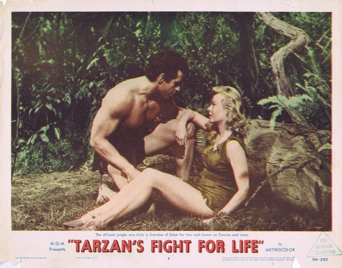 TARZANS FIGHT FOR LIFE Lobby Card 4 Gordon Scott Eve Brent Rickie Sorensen