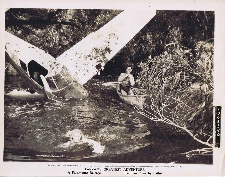 TARZAN'S GREATEST ADVENTURE Movie Still 13 Gordon Scott Plane Crash