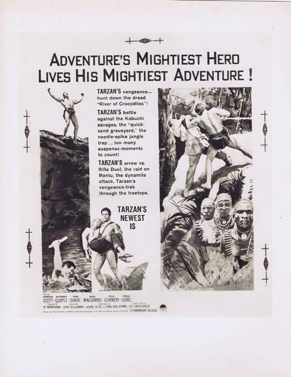 TARZAN'S GREATEST ADVENTURE Artwork Movie Still Gordon Scott