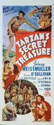 TARZAN'S SECRET TREASURE Original Daybill Movie Poster Johnny Weissmuller Marchant Graphics