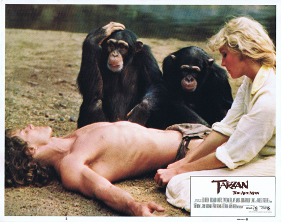 TARZAN THE APE MAN Lobby Card 3 1981 Miles O'Keefe Bo Derek