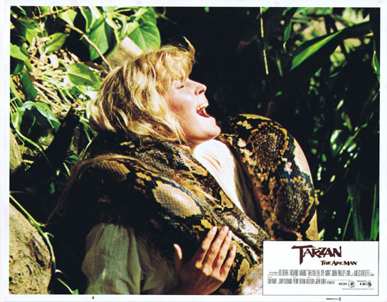 TARZAN THE APE MAN Lobby Card 4 1981 Bo Derek strangled by snake