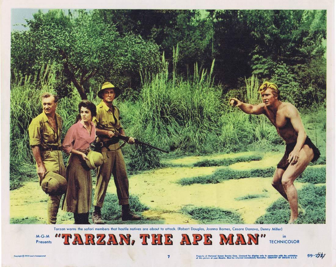 TARZAN THE APE MAN Lobby Card 7 Denny Miller Joanna Barnes