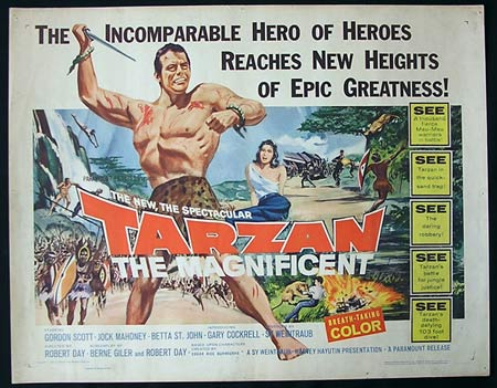 TARZAN THE MAGNIFICENT '60-Scott US HALF SHEET poster