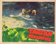 TARZAN TRIUMPHS Lobby Card 3 Johnny Weissmuller 1945