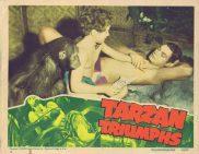 TARZAN TRIUMPHS Lobby Card 2 Johnny Weissmuller 1945