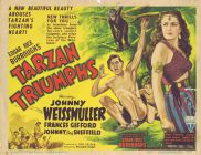 TARZAN TRIUMPHS Title Lobby Card Johnny Weissmuller 1945 Frances Gifford