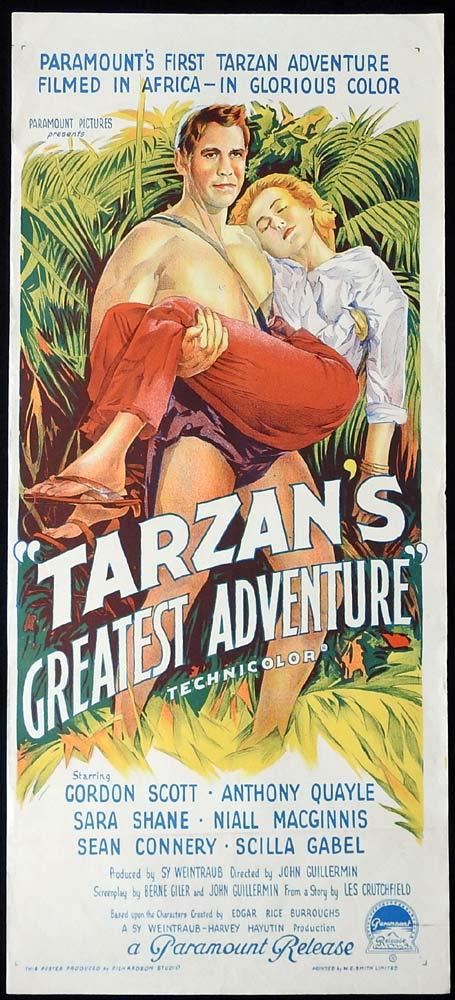 TARZAN'S GREATEST ADVENTURE Original Daybill Movie poster Gordon Scott
