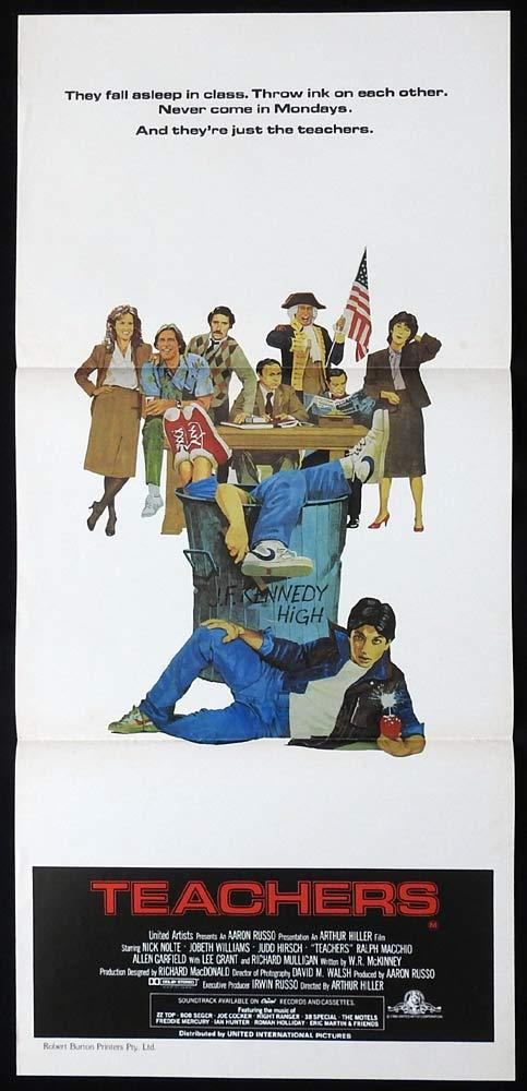 TEACHERS Original Daybill Movie Poster Nick Nolte JoBeth Williams Judd Hirsch