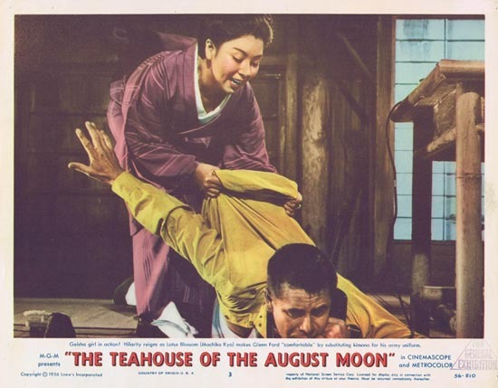TEAHOUSE OF THE AUGUST MOON 1956 Glenn Ford Lobby Card 3 Eddie Albert