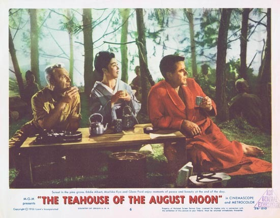 TEAHOUSE OF THE AUGUST MOON 1956 Glenn Ford Lobby Card 6 Eddie Albert
