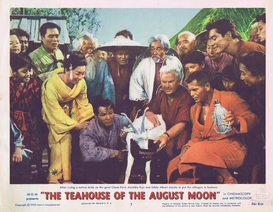 TEAHOUSE OF THE AUGUST MOON 1956 Glenn Ford Lobby Card 7 Eddie Albert