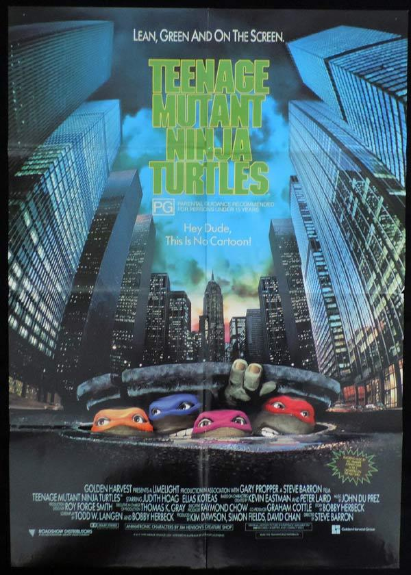 TEENAGE MUTANT NINJA TURTLES Original One sheet Movie poster