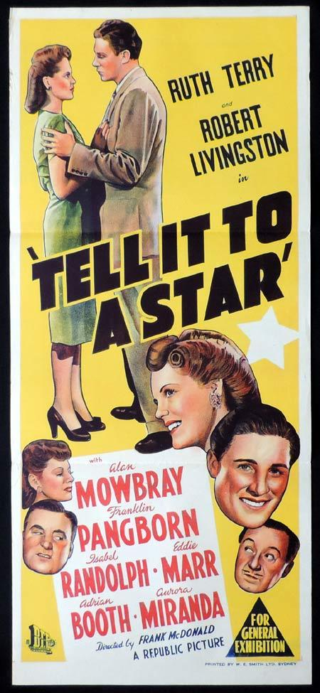 TELL IT TO A STAR Original Daybill Movie Poster Ruth Terry