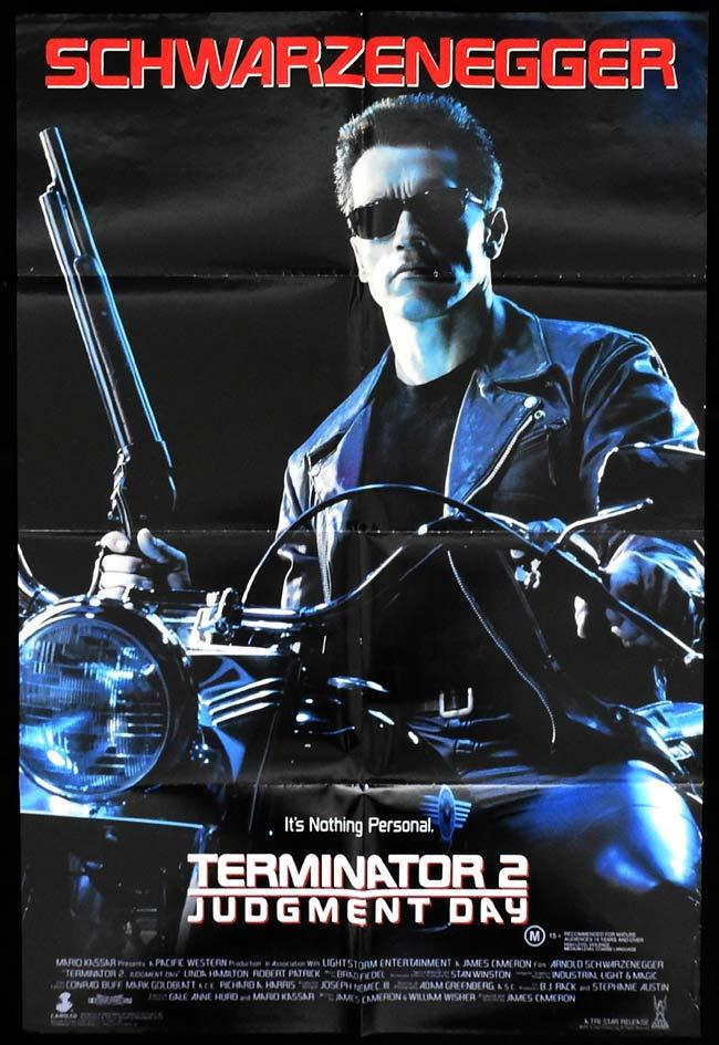 THE TERMINATOR 2 Original One sheet Movie poster Arnold Schwarzenegger