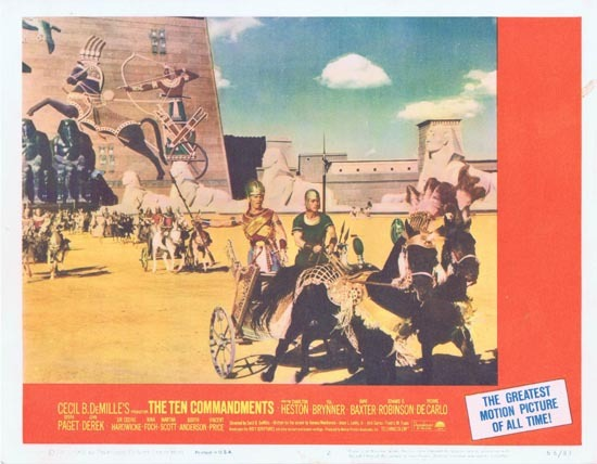 THE TEN COMMANDMENTS Lobby Card 2 1966r Charlton Heston