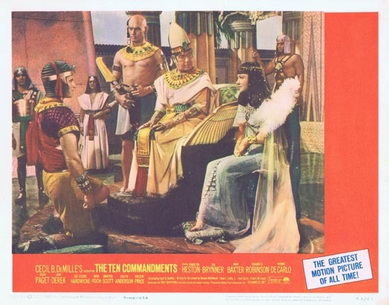 THE TEN COMMANDMENTS Lobby Card 3 1966r Charlton Heston