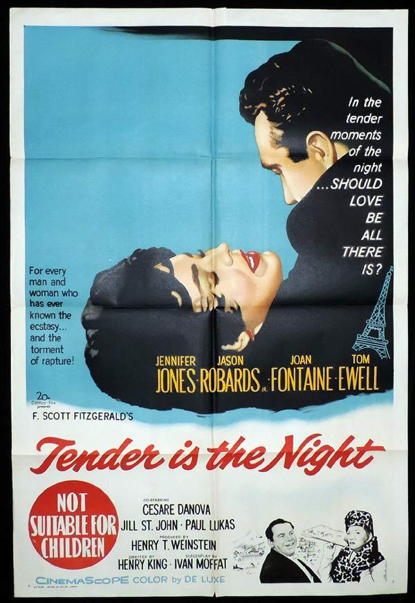 TENDER IS THE NIGHT One Sheet Movie Poster Jennifer Jones