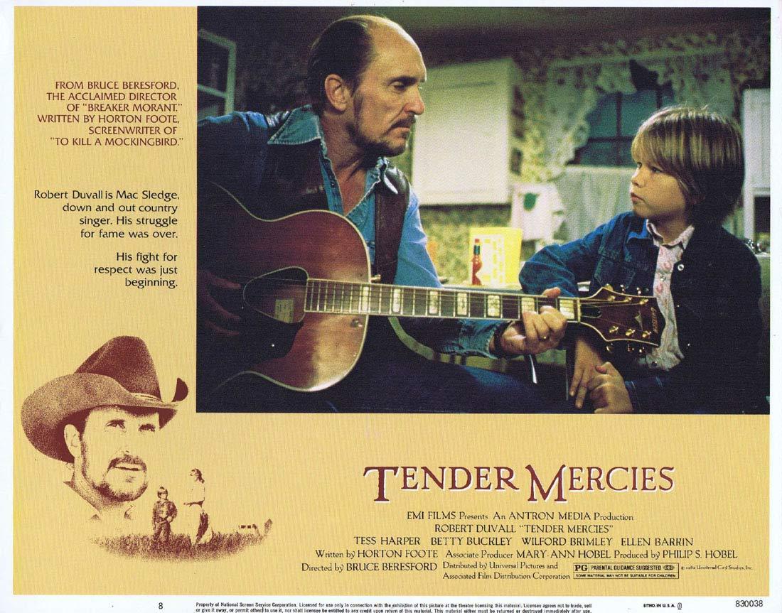 TENDER MERCIES Original Lobby Card 8 Robert Duvall Tess Harper