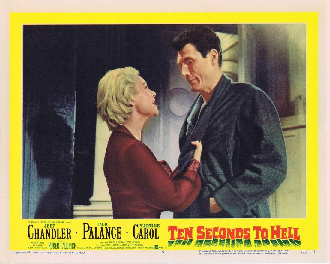 TEN SECONDS TO HELL Lobby Card 5 Jack Palance Jeff Chandler Martine Carol HAMMER