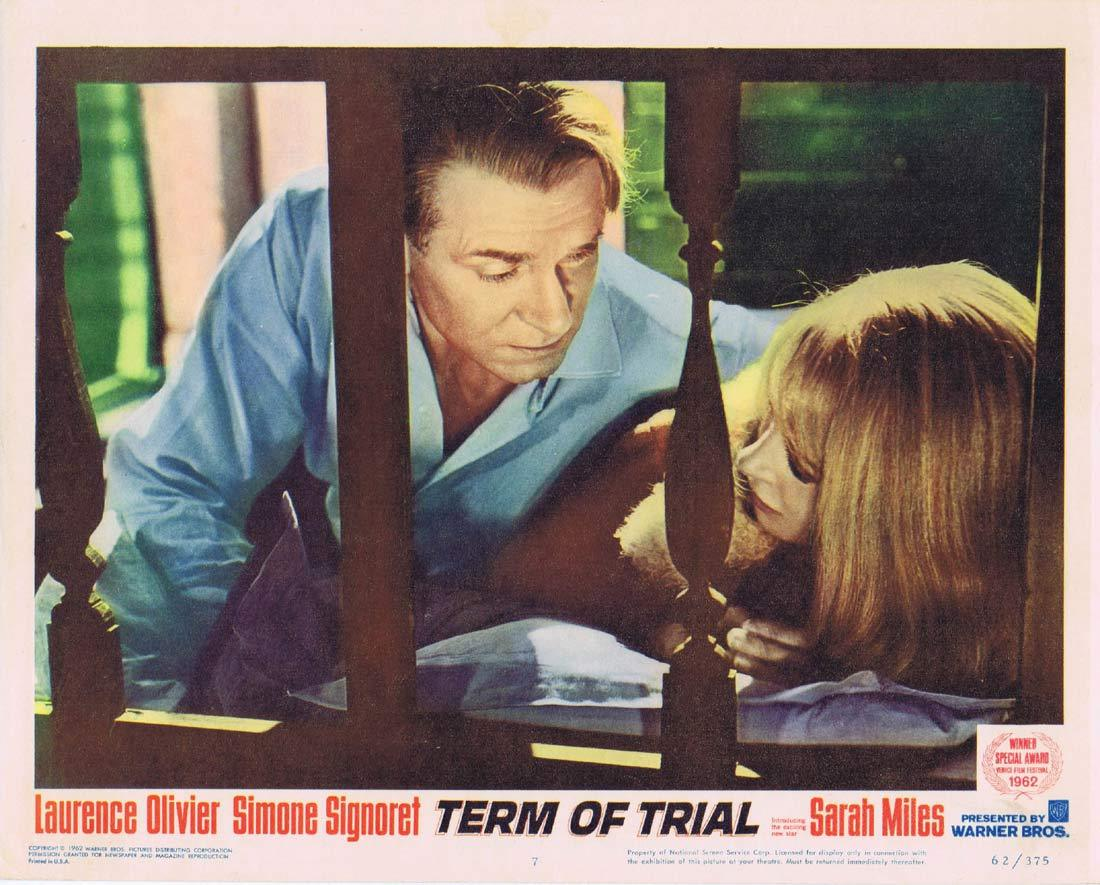 TERM OF TRIAL Lobby Card 7 Laurence Olivier Simone Signoret