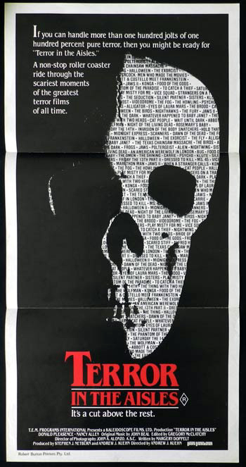 TERROR IN THE AISLES RARE Donald Pleasence Daybill Movie poster