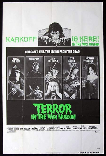 TERROR IN THE WAX MUSEUM One sheet Movie poster Ray Milland