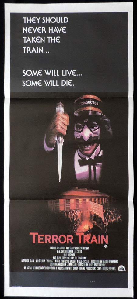 TERROR TRAIN Daybill Movie Poster Jamie Lee Curtis David Copperfield