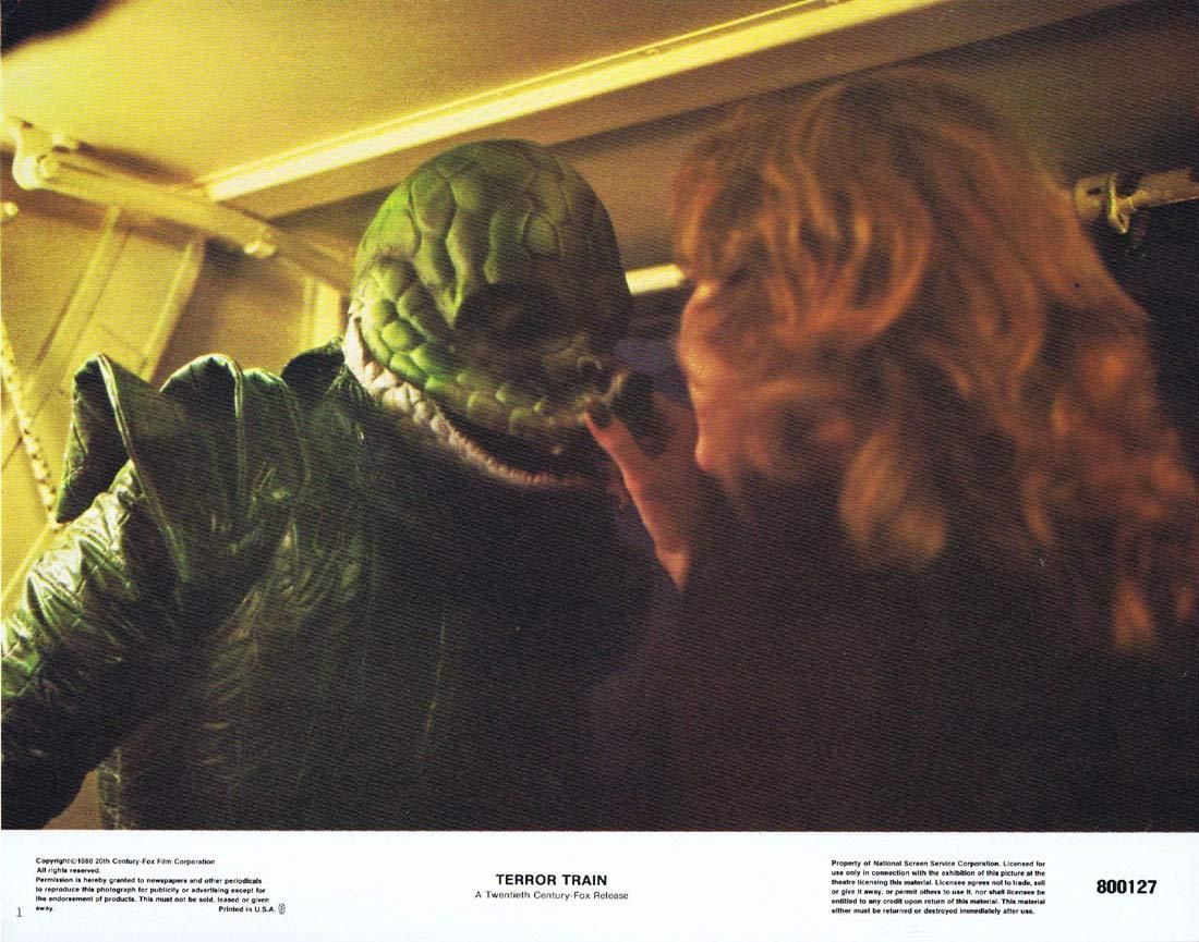 TERROR TRAIN Lobby Card 1 Ben Johnson Jamie Lee Curtis Horror Slasher