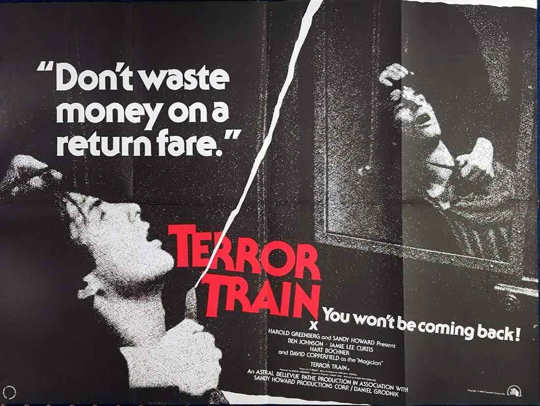 TERROR TRAIN British Quad Movie poster Horror Slasher