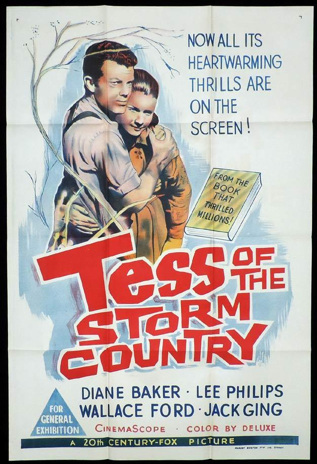 TESS OF THE STORM COUNTRY One sheet Movie poster Diane Baker Lee Philips