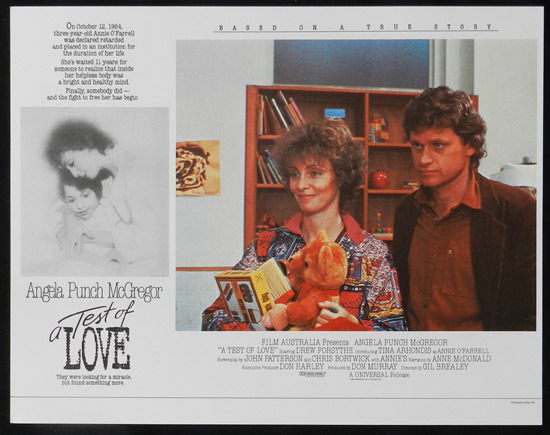 ANNIE'S COMING OUT aka TEST OF LOVE Lobby Card 1 1984 Punch McGregor