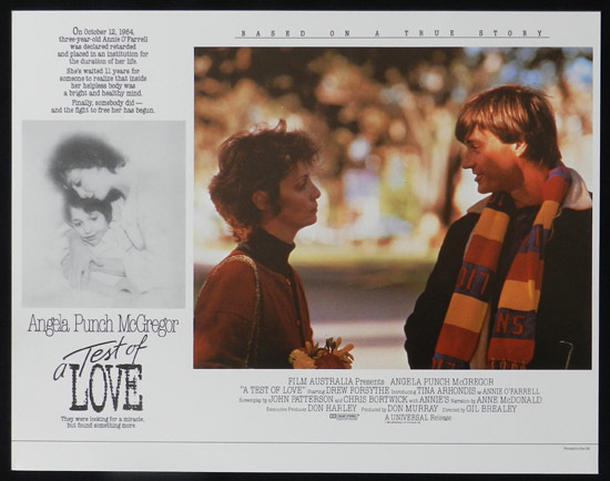 ANNIE'S COMING OUT aka TEST OF LOVE Lobby Card 2 1984 Punch McGregor