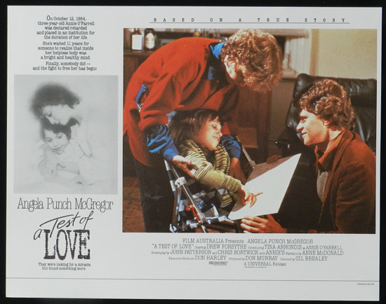 ANNIE'S COMING OUT aka TEST OF LOVE Lobby Card 3 1984 Punch McGregor