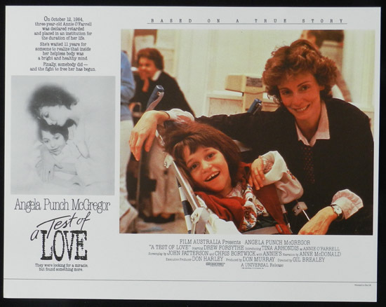 ANNIE'S COMING OUT aka TEST OF LOVE Lobby Card 4 1984 Punch McGregor