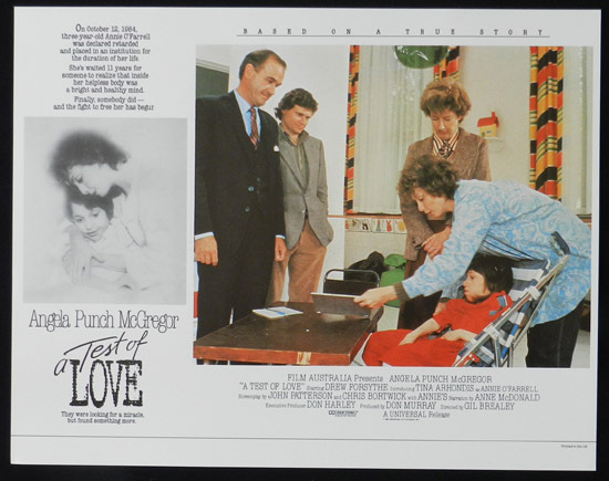 ANNIE'S COMING OUT aka TEST OF LOVE Lobby Card 6 1984 Punch McGregor