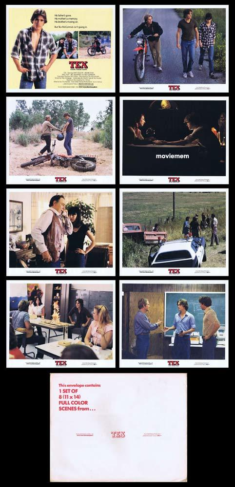 TEX Original Lobby Card Set Matt Dillon Motorcycle Biker
